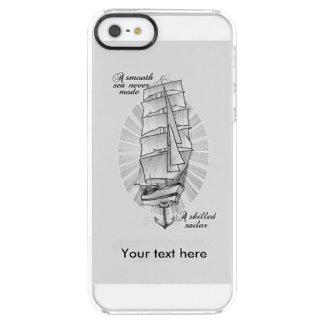 Ship Schooner Quote Clear iPhone SE/5/5s Case