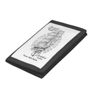 Ship Schooner Quote Tri-fold Wallet