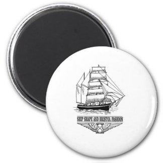ship shape and Bristol fashion 2 Inch Round Magnet