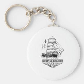 ship shape and Bristol fashion Basic Round Button Keychain