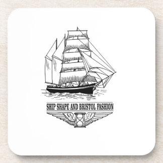 ship shape and Bristol fashion Drink Coasters