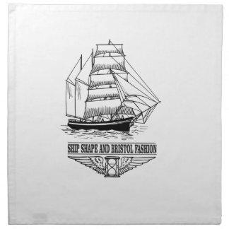 ship shape and Bristol fashion Napkin