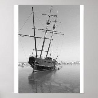 Ship shape poster