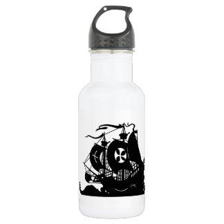 Ship Silhouette 532 Ml Water Bottle