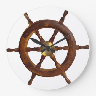 Ship Steering Wheel Clock