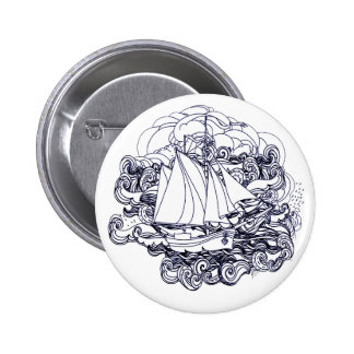 Ship Stuck in the Storm 2 Inch Round Button