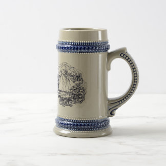 Ship Stuck in the Storm Beer Stein