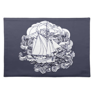 Ship Stuck in the Storm Placemat