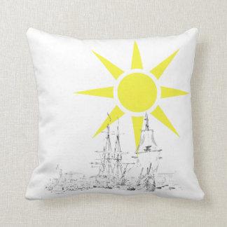 Ship&sun Throw Pillow
