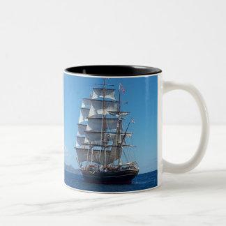 Ship Two-Tone Coffee Mug