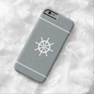 Ship Wheel Blue Barely There iPhone 6 Case