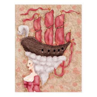 Ship Wig Postcard