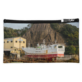 Ship Yard in Wakayama Fishing Village Cosmetic Bag