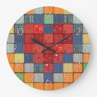 Shipping Container Heart Wall Clock