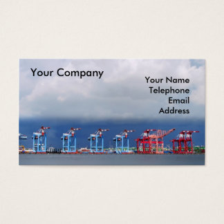 Shipping Cranes and Containers Business Card