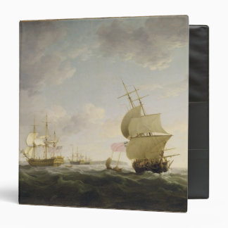 Shipping in the English Channel, c.1755 (oil on ca 3 Ring Binder