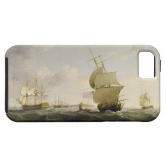 Shipping in the English Channel, c.1755 (oil on ca iPhone 5 Cases