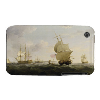 Shipping in the English Channel, c.1755 (oil on ca iPhone 3 Case-Mate Cases