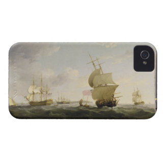 Shipping in the English Channel, c.1755 (oil on ca iPhone 4 Cover