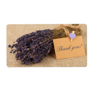 Shipping labels with bouquet of lavender