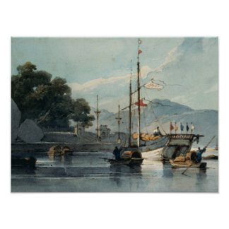 Shipping on a Chinese River Poster