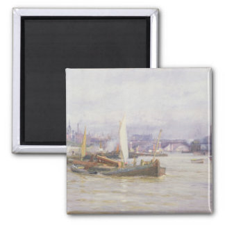 Shipping on the Thames Refrigerator Magnet