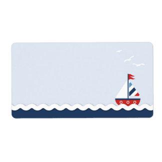Ships Ahoy! Name Tag