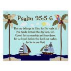 Ships Ahoy Nautical Bible Verse Wall Print