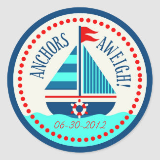 Ships Ahoy!Sticker C Classic Round Sticker