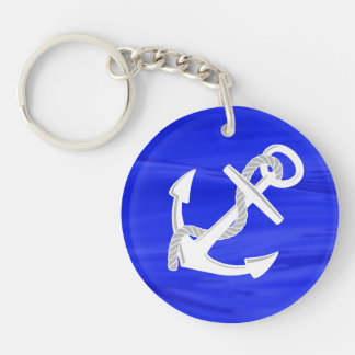 Ship's Anchor Double-Sided Round Acrylic Keychain