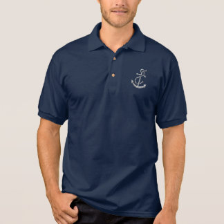 Ship's Anchor Nautical Marine-Themed Gift Polo Shirt
