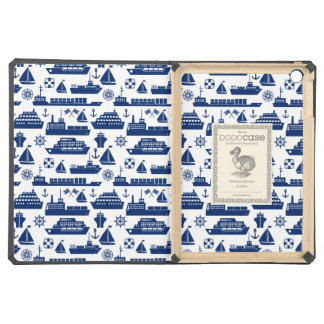 Ships And Boats At Sea Pattern iPad Air Covers