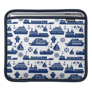 Ships And Boats At Sea Pattern Sleeves For iPads