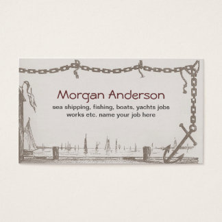 ships boats fishing sea ocean business card