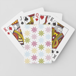 Ships helm pattern playing cards