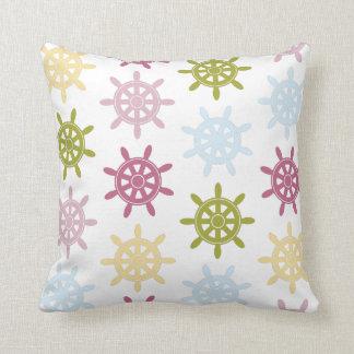 Ships helm pattern throw pillow