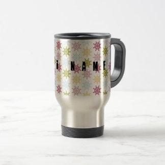 Ships helm pattern travel mug