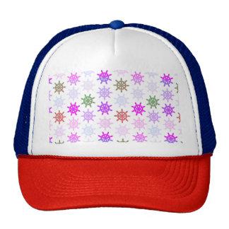 Ships helm pattern trucker hat