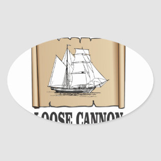 ships log oval sticker