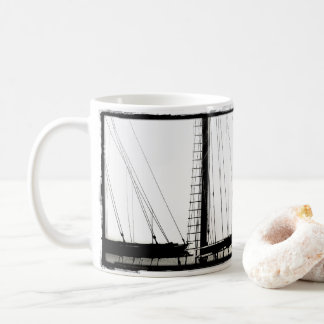 Ship's Masts Camden, Maine B&W Classic Mug