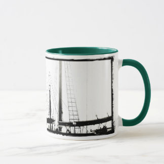 Ship's Masts Camden, Maine B&W Combo Mug