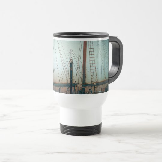 Ship's Masts Camden, Maine Travel Mug