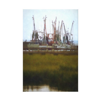Ship's Masts From Across the Marsh Canvas Print