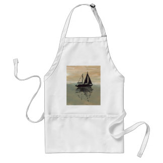 "Ships of the Imagination ""Sailboat Reflections""  C Aprons"