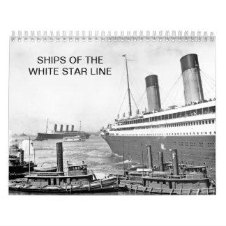 Ships of the White Star Line Calendars