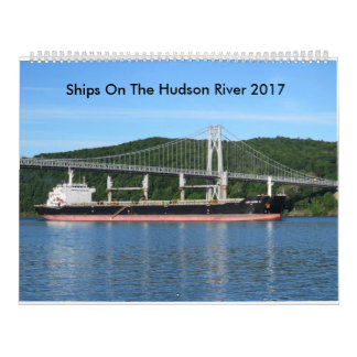 Ships On The Hudson River 2017 Wall Calendars