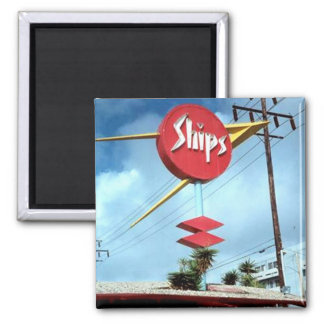 """Ships Sign"" Square Magnet"