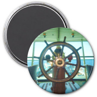 Ship's Wheel 3 Inch Round Magnet
