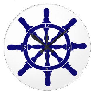 Ship's Wheel Large Clock