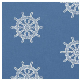 Ship's Wheel Nautical Pick Any Color Craft Fabric